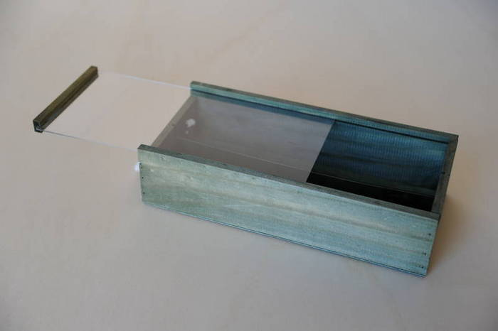 Tapa corredera transparente