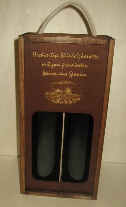 Caja 2 botellas con ventana